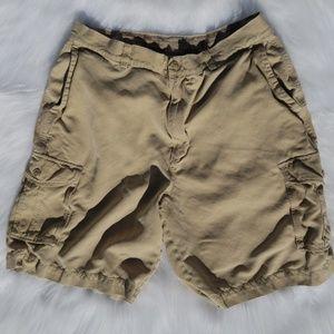 Silk Cargo Shorts in Khaki by Tommy Bahama